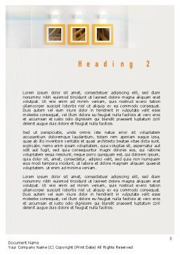 Bright Living Room Word Template Second Inner Page