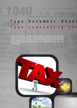 Taxes Word Template, Cover Page, 10904, Financial/Accounting — PoweredTemplate.com