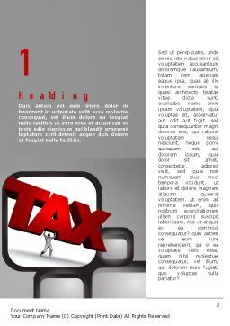 Taxes Word Template, First Inner Page, 10904, Financial/Accounting — PoweredTemplate.com