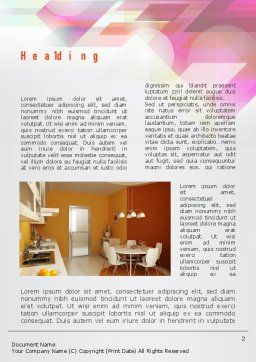 Kitchen Design Word Template, First Inner Page, 10905, Careers/Industry — PoweredTemplate.com