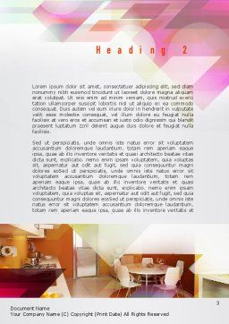 Kitchen Design Word Template, Second Inner Page, 10905, Careers/Industry — PoweredTemplate.com