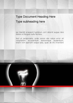 Bulb Silhouette Word Template, Cover Page, 10906, Consulting — PoweredTemplate.com