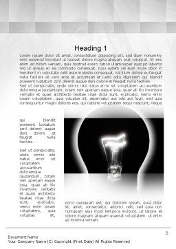 Bulb Silhouette Word Template, First Inner Page, 10906, Consulting — PoweredTemplate.com
