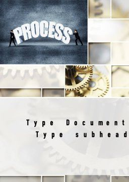 Process Management Word Template, Cover Page, 10907, Careers/Industry — PoweredTemplate.com