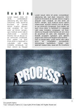 Process Management Word Template, First Inner Page, 10907, Careers/Industry — PoweredTemplate.com