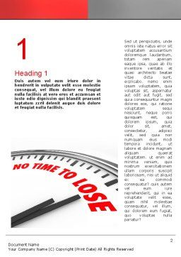 Clock Counting Down Word Template, First Inner Page, 10910, Business Concepts — PoweredTemplate.com