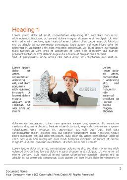 Innovative Technology in Architecture Word Template, First Inner Page, 10912, Careers/Industry — PoweredTemplate.com