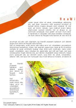Mixing Paint Word Template First Inner Page