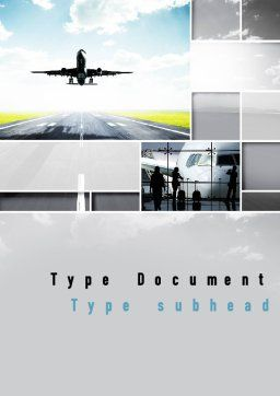 Runway Word Template, Cover Page, 10915, Cars/Transportation — PoweredTemplate.com