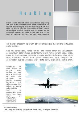 Runway Word Template, First Inner Page, 10915, Cars/Transportation — PoweredTemplate.com