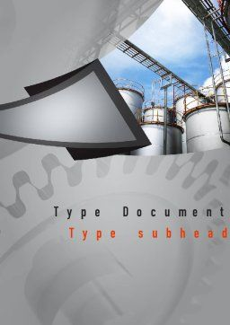 Industrial Tanks Word Template, Cover Page, 10916, Utilities/Industrial — PoweredTemplate.com