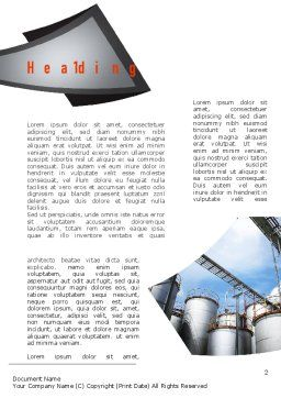 Industrial Tanks Word Template, First Inner Page, 10916, Utilities/Industrial — PoweredTemplate.com