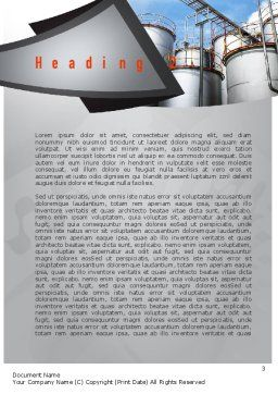 Industrial Tanks Word Template, Second Inner Page, 10916, Utilities/Industrial — PoweredTemplate.com