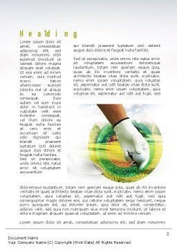 Golf Theme Word Template, First Inner Page, 10917, Sports — PoweredTemplate.com