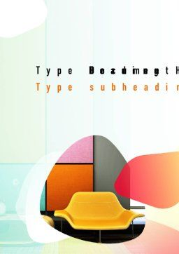 Yellow Sofa Word Template Cover Page
