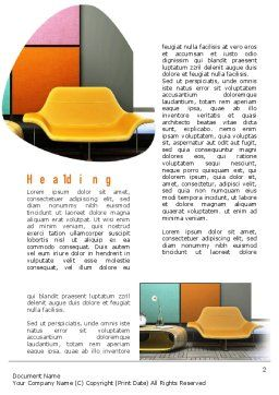 Yellow Sofa Word Template First Inner Page