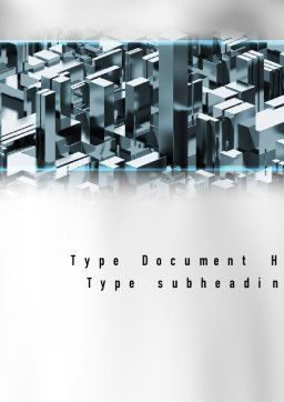 Skyscraper Abstract Concept Word Template, Cover Page, 10922, Construction — PoweredTemplate.com