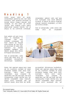Construction Collage Word Template, First Inner Page, 10923, Construction — PoweredTemplate.com