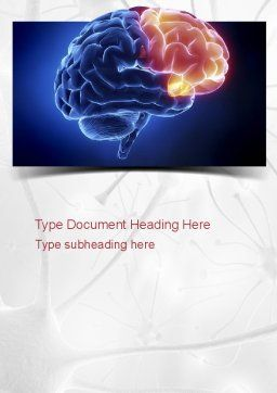Human Brain Frontal Lobe Word Template, Cover Page, 10925, Medical — PoweredTemplate.com