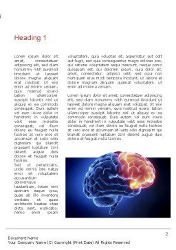 Human Brain Frontal Lobe Word Template, First Inner Page, 10925, Medical — PoweredTemplate.com