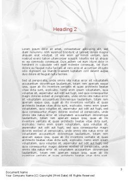 Human Brain Frontal Lobe Word Template, Second Inner Page, 10925, Medical — PoweredTemplate.com
