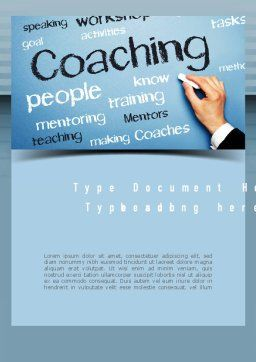 Personnel Development Word Template Cover Page