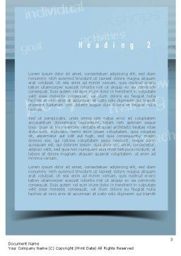 Personnel Development Word Template Second Inner Page