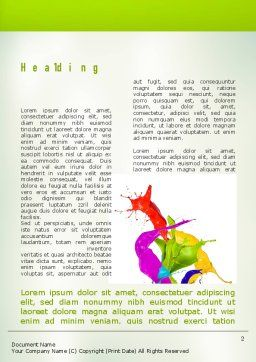 Paint Splash Word Template First Inner Page