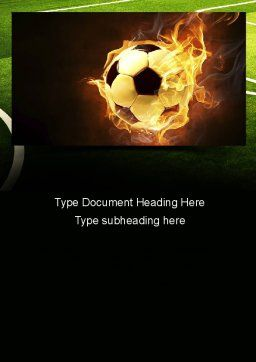 Football in Fire Flame Word Template, Cover Page, 10931, Sports — PoweredTemplate.com