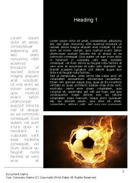 Football in Fire Flame Word Template, First Inner Page, 10931, Sports — PoweredTemplate.com