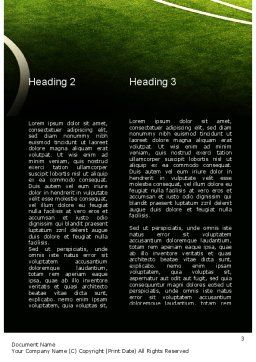 Football in Fire Flame Word Template, Second Inner Page, 10931, Sports — PoweredTemplate.com