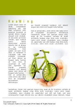 Green Bicycle Word Template First Inner Page