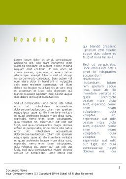 Green Bicycle Word Template Second Inner Page