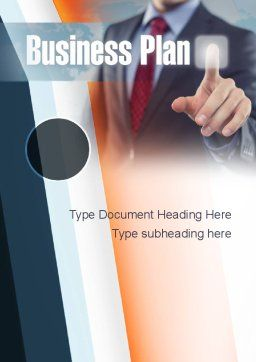 Plan and Launch Word Template, Cover Page, 10933, Business Concepts — PoweredTemplate.com