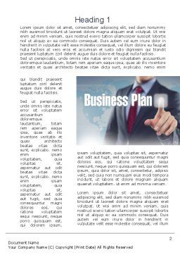 Plan and Launch Word Template, First Inner Page, 10933, Business Concepts — PoweredTemplate.com
