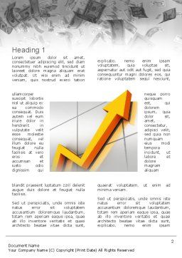 Stock Market Arrow Word Template First Inner Page