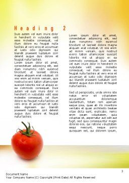 Natural Nutrition Word Template, Second Inner Page, 10935, Agriculture and Animals — PoweredTemplate.com