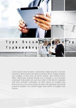 Business Information Word Template, Cover Page, 10936, Business Concepts — PoweredTemplate.com