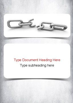 Broken Link Word Template, Cover Page, 10938, Consulting — PoweredTemplate.com