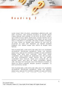 Working Money Word Template Second Inner Page