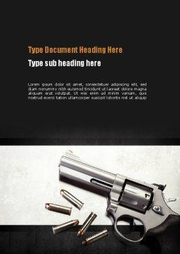Gun Word Template, Cover Page, 10943, Military — PoweredTemplate.com