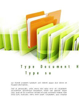 Files Word Template, Cover Page, 10944, Legal — PoweredTemplate.com