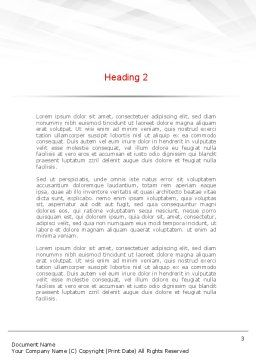 Conference Speaking Word Template Second Inner Page
