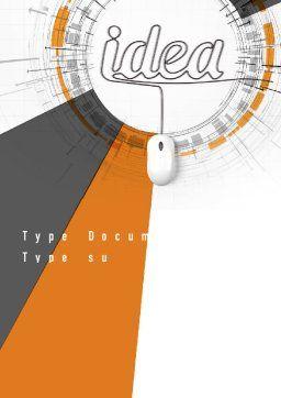 Idea Development Word Template, Cover Page, 10949, Business Concepts — PoweredTemplate.com