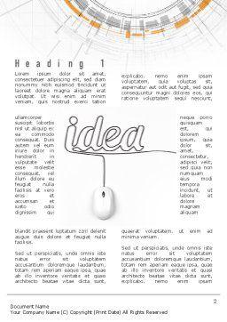 Idea Development Word Template, First Inner Page, 10949, Business Concepts — PoweredTemplate.com