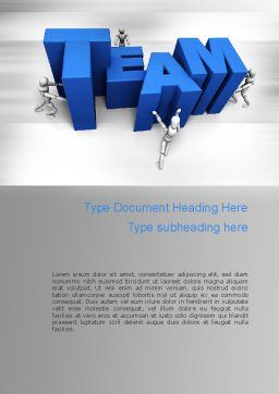 Teambuilding Word Template, Cover Page, 10951, Careers/Industry — PoweredTemplate.com