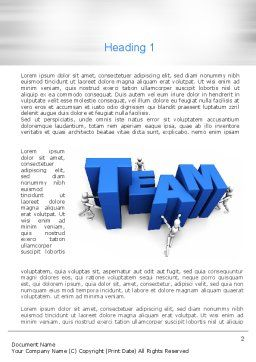 Teambuilding Word Template, First Inner Page, 10951, Careers/Industry — PoweredTemplate.com