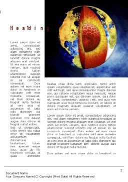 Earth's Core Word Template, First Inner Page, 10955, Education & Training — PoweredTemplate.com