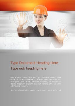 Lead Architect Word Template, Cover Page, 10958, Careers/Industry — PoweredTemplate.com