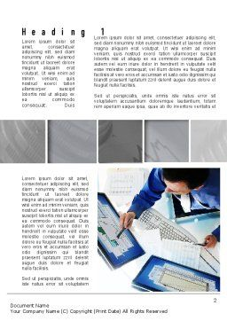 Accounting Services Word Template, First Inner Page, 10959, Financial/Accounting — PoweredTemplate.com